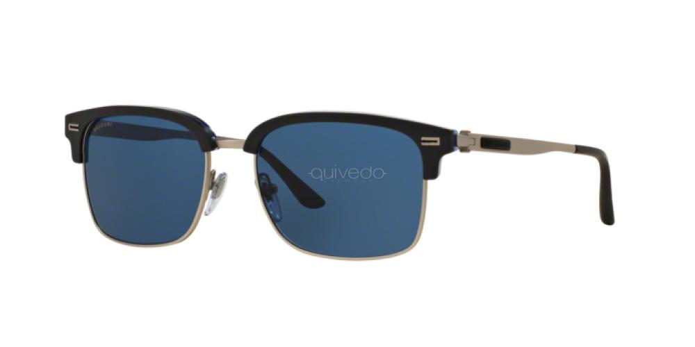 Bvlgari Sunglasses 7026 535780 Grey Blue Horn Blue