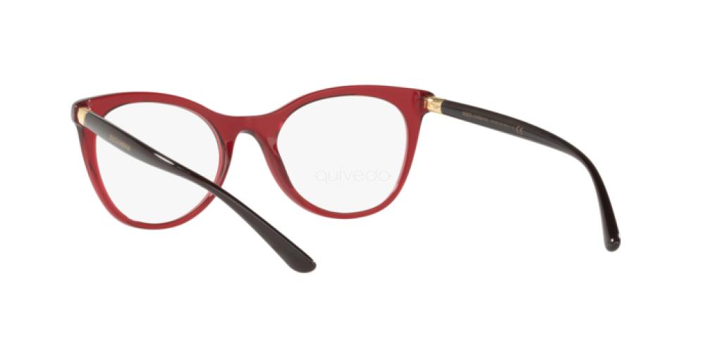 Eyeglasses Dolce /& Gabbana DG 3312 3211 TRANSPARENT BORDEAUX