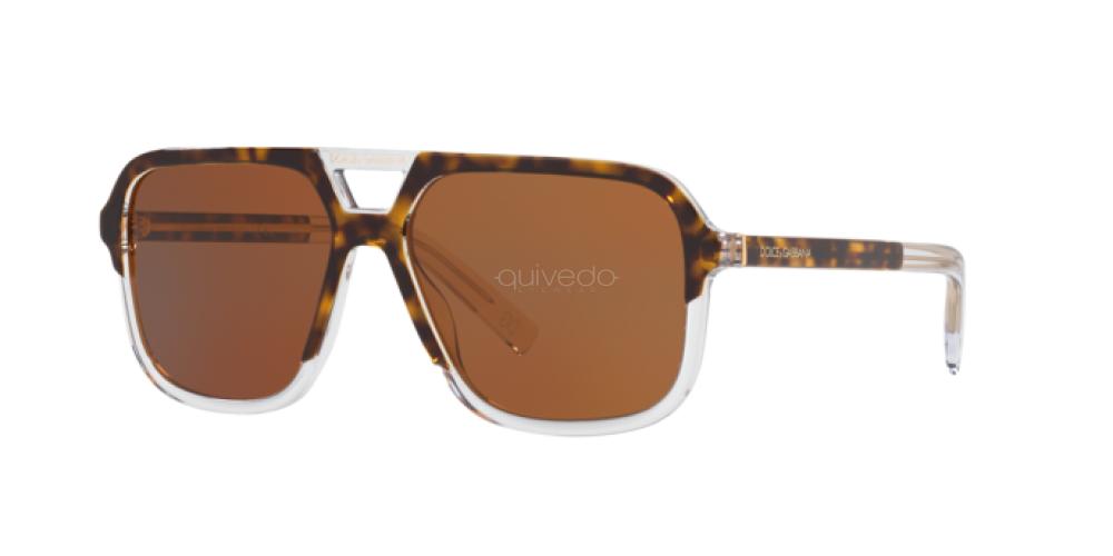 Sunglasses Dolce /& Gabbana DG 4354 757//73 TOP HAVANA ON CRYSTAL