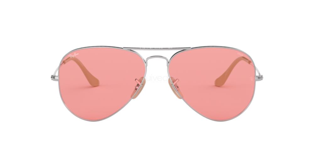 Dettagli su Occhiali da Sole aviator large metal RB3025 ray ban rosa fotocromatico 9065V7