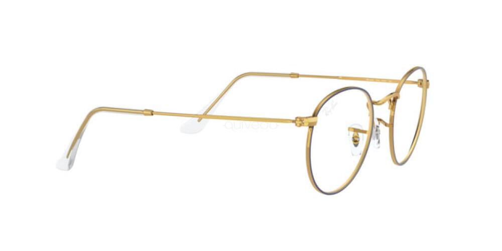 Occhiali da Vista Unisex Ray-Ban Round metal RX 3447V 3105