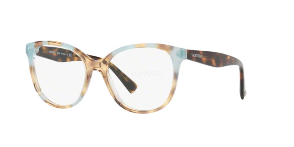 Eyeglasses Valentino VA 3014 5060 HAVANA INSERTS CRYSTAL