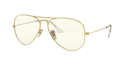 Ray-Ban Aviator large metal Everglasses Clear Evolve RB 3025 (001/5F)