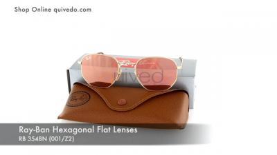 Ray-Ban Hexagonal Flat Lenses RB 3548N (001/Z2)