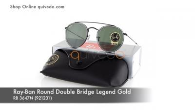 Ray-Ban Round Double Bridge Legend Gold RB 3647N (921231)