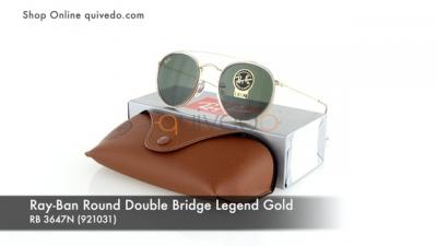 Ray-Ban Round Double Bridge Legend Gold RB 3647N (921031)