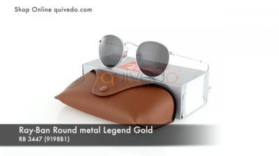 Ray-Ban Round metal Legend Gold RB 3447 (9198B1)
