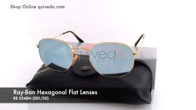 Ray-Ban Hexagonal Flat Lenses RB 3548N (001/30)