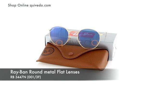 Ray-Ban Round metal Flat Lenses RB 3447N (001/3F)