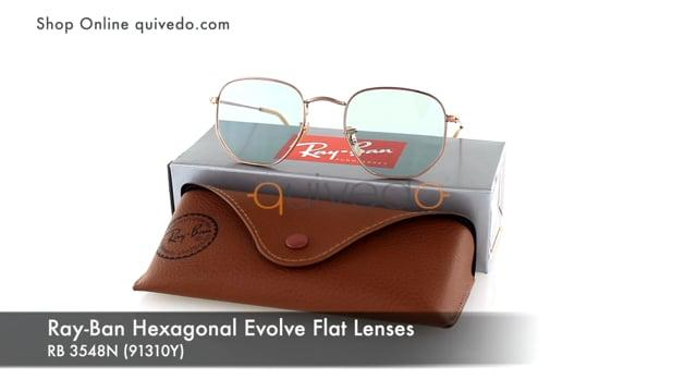 Ray-Ban Hexagonal Evolve Flat Lenses RB 3548N (91310Y)
