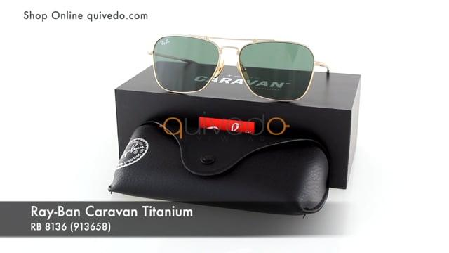 Ray-Ban Caravan Titanium RB 8136 (913658)