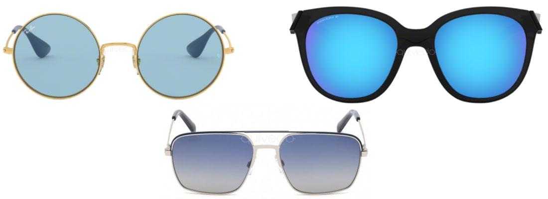 occhiali da sole con lenti blu